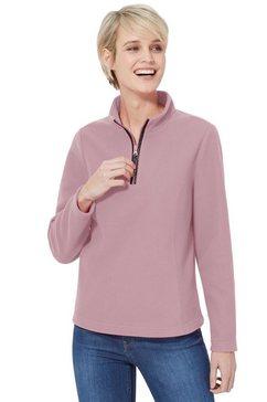 classic basics fleece-shirt roze