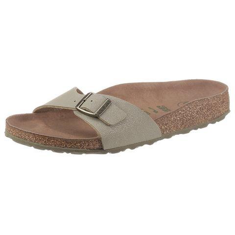 Birkenstock slippers in veganistische verwerking, schoenwijdte smal