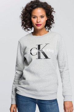 calvin klein sweatshirt met zacht geruwde binnenkant grijs