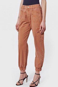 kaporal cargo jeans lorel met coole zakken opzij oranje