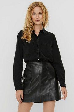 vero moda jeansblouse »vmmila« zwart