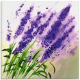 artland print op glas lavendel-aquarel (1 stuk) paars