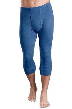 thermo-onderbroek, driekwartlengte, set van 2 blauw