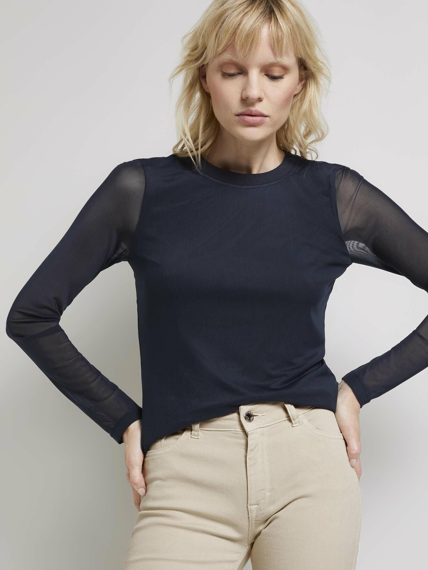 TOM TAILOR mine to five shirt met lange mouwen nu online kopen bij OTTO