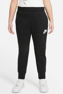nike sportswear joggingbroek girl's nike sportswear club ft hw fitted pant zwart