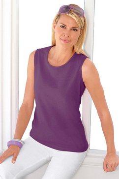 casual looks shirttop van puur katoen paars