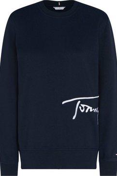 tommy hilfiger sweatshirt »regular c-nk script sweatshirt« blauw
