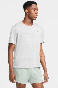 nike runningshirt dri-fit miler mens running top wit
