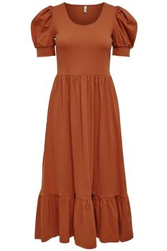 only midi-jurk onlmay met pofmouwen rood