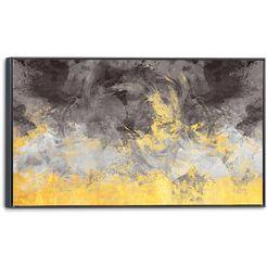 artprint op linnen »abstract« goud