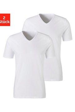 h.i.s shirt met korte mouwen (set van 2) van katoen wit
