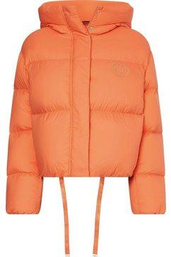 tommy hilfiger donsjack nylon down puffer jacket oranje
