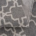 carpet city loper cotton vlakpolig, zuiver katoen grijs