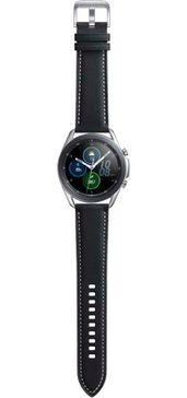 samsung smartwatch galaxy watch3, edelstaal, 45 mm, bluetooth (sm-r840) zilver