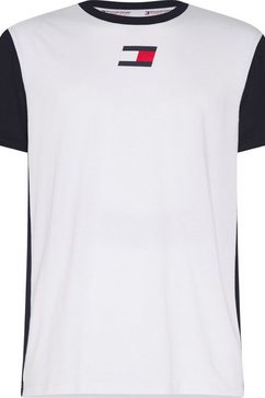 tommy sport trainingsshirt »flag tee« wit