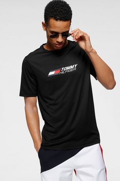 tommy sport trainingsshirt »essentials training tee« zwart