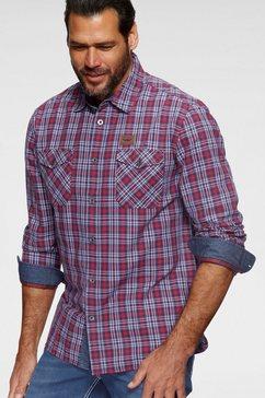 arizona overhemd met lange mouwen rood