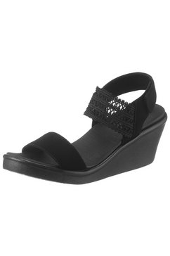 skechers sandaaltjes »rumble on - takeover« zwart