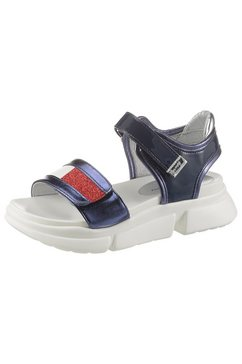 tommy hilfiger sandalen met klittenbandsluiting blauw
