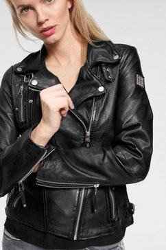 freaky nation leren jack »biker princess« zwart