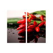 wall-art kookplaatdeksel keuken kookplaatafdekblad chilli (set, 2-delig) rood