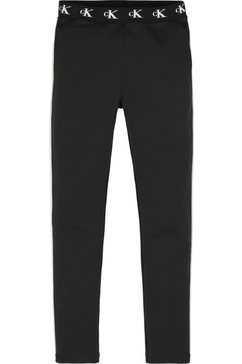 calvin klein sweatbroek »monogram str slim« zwart