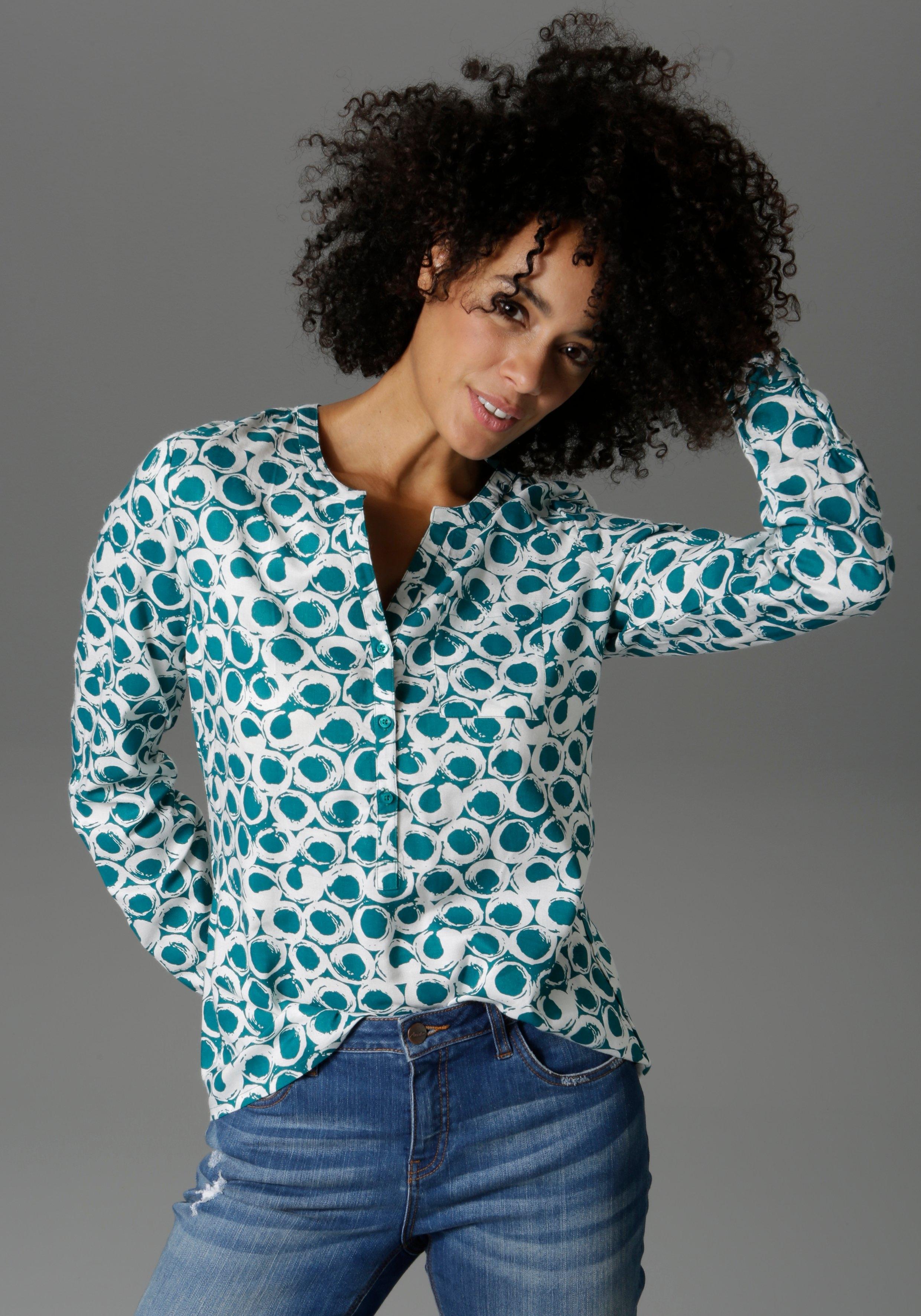 Aniston CASUAL blouse zonder sluiting met oprolbare mouwen veilig op otto.nl kopen