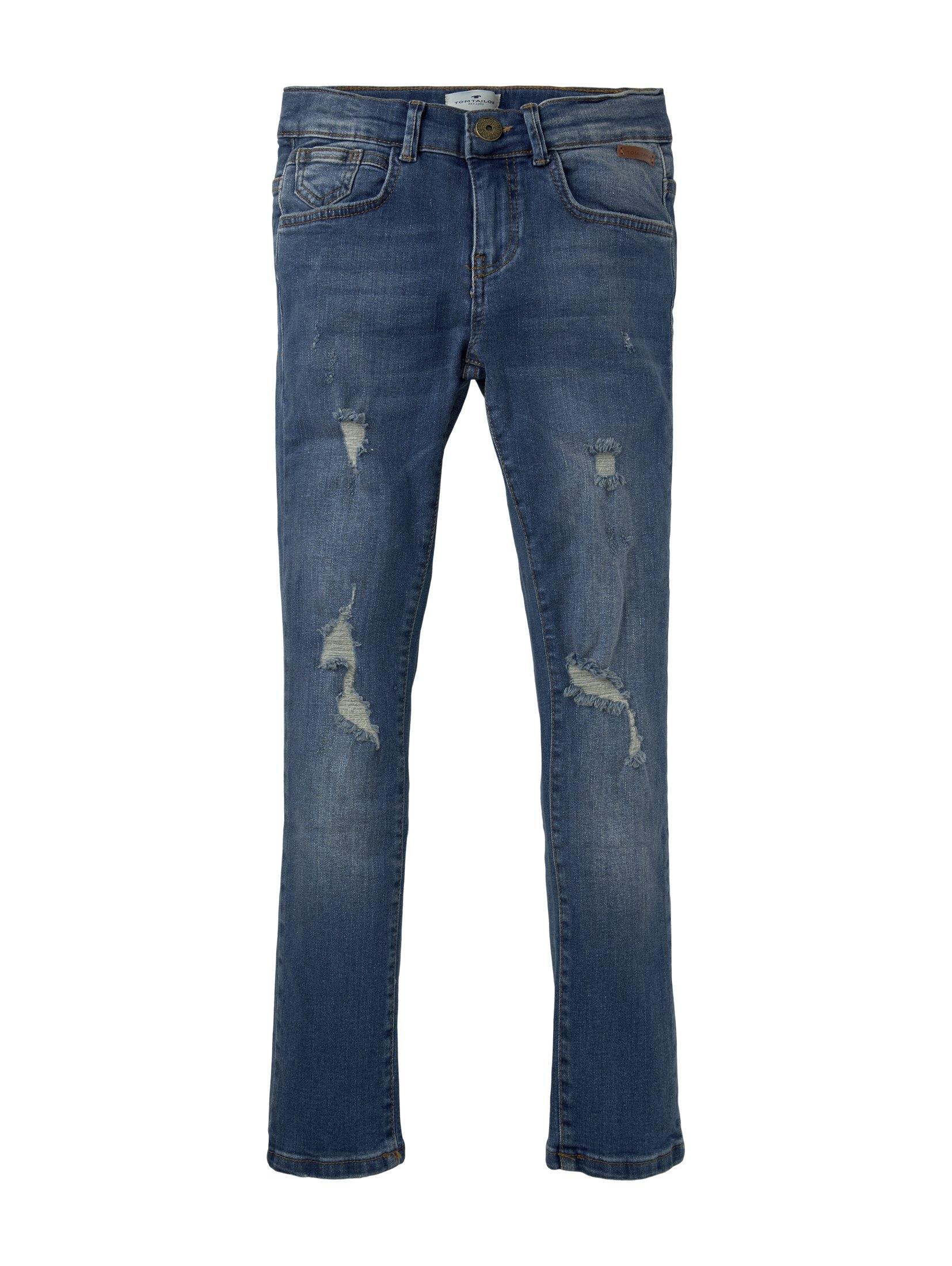 TOM TAILOR straight jeans »Tom Jeans mit Riss-Details« nu online bestellen
