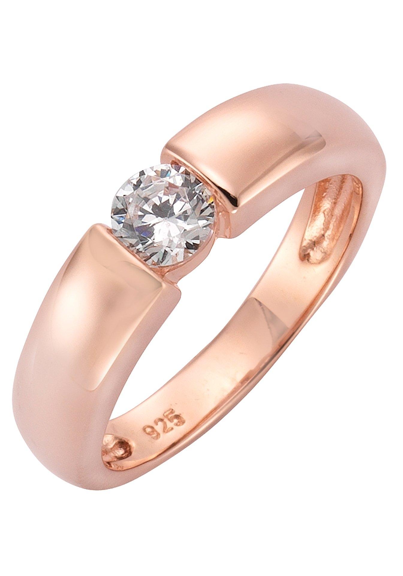 Firetti zilveren ring Open ring-look, glanzend rozeverguld, klassiek met zirkoon voordelig en veilig online kopen