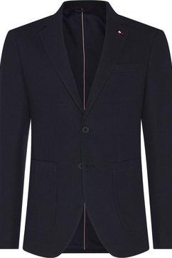 tommy hilfiger tailored katoenen colbert »solid jersey slim fit blazer« blauw