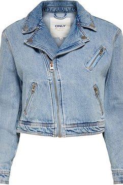 only jeansjack met biker-details blauw