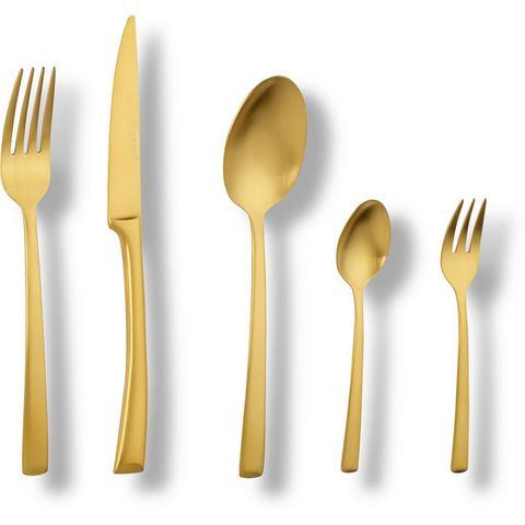 ECHTWERK Bestekset Avelino Gold Edition RVS 18 10, 20 stuks voor 4 personen (set)