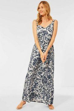 cecil maxi-jurk met gebloemde all-over print wit