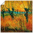 artland artprint »weiden bei sonnenuntergang. 1888« geel