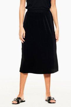 garcia rok in a-lijn met elastische tailleband zwart