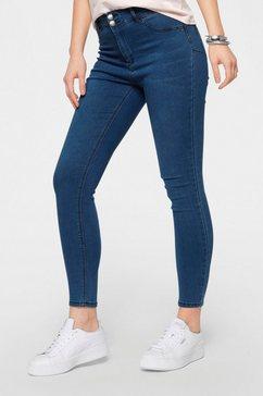 hailys push-up jeans push in 7-8- lengte blauw