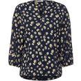 cecil shirt met ronde hals met een bloemmotief blauw