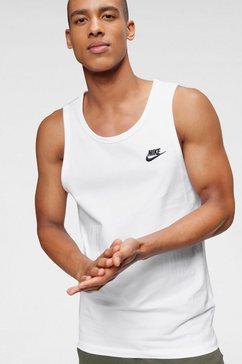 nike sportswear muscle-shirt »m nsw club - tank« wit