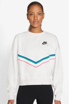 nike sweatshirt »heritage fleece crew« grijs