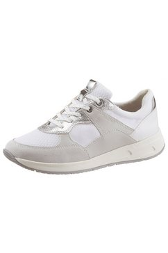 geox sneakers met speciale membraan in de loopzool wit