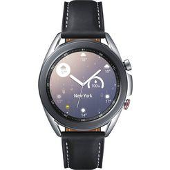 samsung smartwatch galaxy watch3, edelstaal, 41 mm, lte (sm-r855) zilver