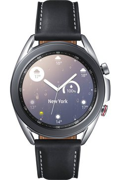 samsung smartwatch galaxy watch3, edelstaal, 41 mm, lte (sm-r855) zilver
