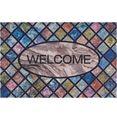 my home mat welcome wandtegels inloopmat, met quote, geschikt voor binnen en buiten multicolor