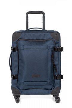 eastpak zachte trolley »trans4 s, 55 cm, cnnct navy« blauw