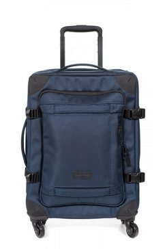 eastpak zachte trolley trans4 s, cnnct navy bevat gerecycled materiaal (global recycled standard) blauw