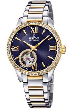 festina automatisch horloge automatik, f20486-2 zilver