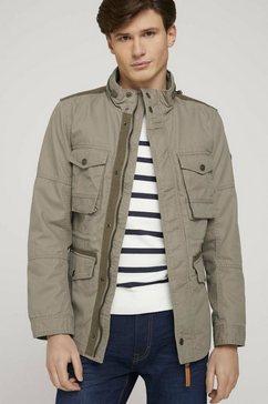 tom tailor field-jacket feldjack met opstaande kraag beige