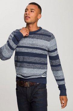 jack  jones trui met ronde hals »marlon« blauw