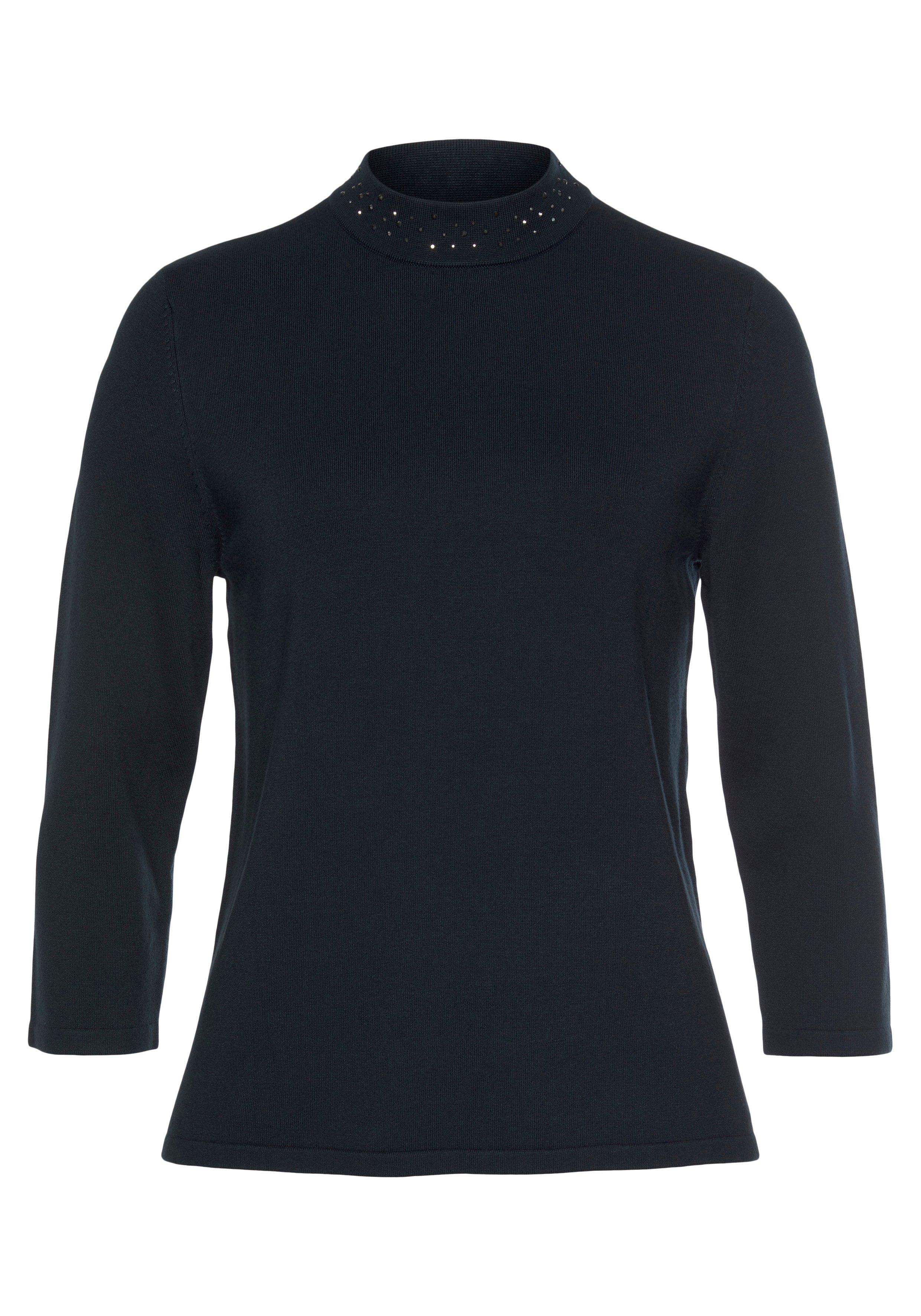 s.Oliver BLACK LABEL Gebreide trui met leuke glinstersteentjes bij de hals goedkoop op otto.nl kopen