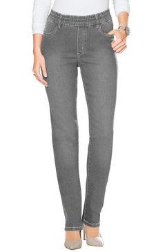 classic basics high-waist jeans grijs